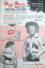 Mary Maxim Graph Knitting Pattern No 455 PRAIRIE PRANCER Childs Horse Cardigan