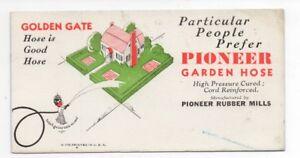 1920s Advertising Blotter Pioneer Garden Hose with Black Americana image