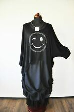 Estilo De Capas Túnica Camiseta Grande Murciélago Estrás Smiley 46,48,50,52,54 ,