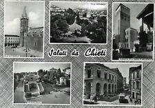 """"""" Saluti da CHIETI : con cinque vedute """" Viaggiata  Anno 1960"""
