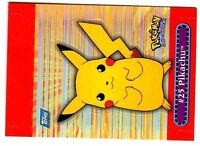 POKEMON TOPPS POP UP 1998 of 10 N° 2 PIKACHU #25