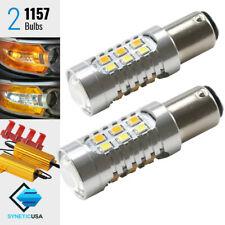 2x1157 Dual Color Type 1 Switchback  White/Amber LED Turn Signals Bulbs+Resistor