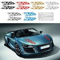Universal Car Racing Sport Flames Fire Hood Decals Vinyl Graphics Stickers  /