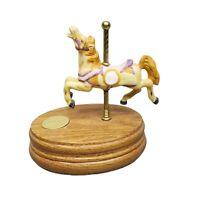 Willitts Designs Group II Porcelain Carousel Horse Wood Base Music Box 2 - 6382