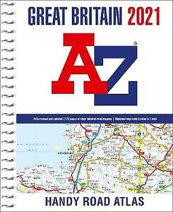 Great Britain AZ Handy Road Atlas 2021 A5 Spiral, A-Z maps,
