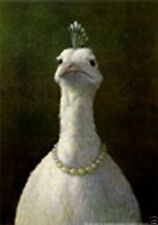Fowl with Pearls Michael Sowa Fantasy Chicken Art Print Poster 17x24