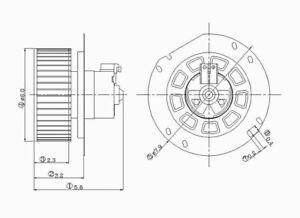HVAC Blower Motor Front TYC 700020