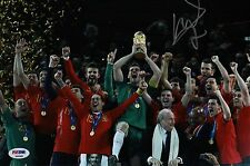 DAVID VILLA SIGNED SPAIN 2010 WORLD CUP 8X12 PHOTO PSA COA P45681
