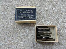 1 BOX OF VINTAGE COLLECTABLE EJ ARNOLD SCHOLARS PEN FOUNTAIN PEN NIBS.