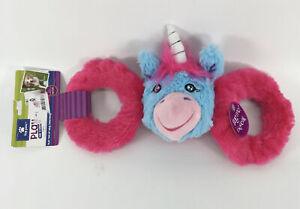 Top Paw Tug n Squeak Unicorn Dog Toy
