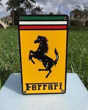 New ListingVery Nice Shape Vintage Ferrari Gas Oil Luxury Dealership Sign Look!