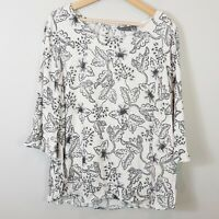 [ SUSSAN ] Womens Floral Print 3/4 Sleeves Blouse  | Size AU 18 or US 14