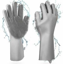 1Pair Magic Silicone Dish Washing Hand Gloves for Kitchen Cleaning Pet Grooming