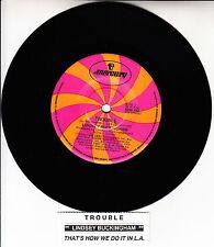 "LINDSEY BUCKINGHAM Trouble FLEETWOOD MAC 7"" 45 rpm record + juke box title strip"