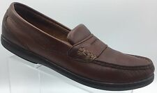 CLARKS Shoes Slip On Leather Penny Loafers Men's Brown Driving Moccasin Size 11