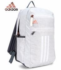 Adidas Backpack League 3 Stripe Laptop Bag (Jersey White Rose Gold) School Work