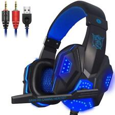 Gaming Headphone Wired Stereo Deep Bass Headband Glowing Earphone With Mic Led