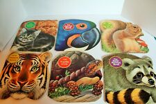 Lot of 6 Vintage PB Golden Shape Books Squirrel Kitten Turtle Tiger Parrot