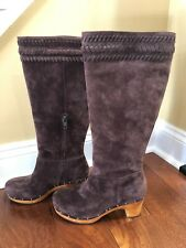 Ugg Women's Brown Suede Riding Boots, US Size 8, Excellent Condition