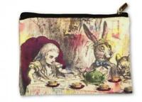Alice in Wonderland Make Up Bag Cosmetics Pouch Purse Mad Hatter Party Gift