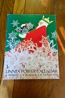 """1993 Linnea Poster Calendar artwork  12 Posters 11"""" x 14"""" New design each month"""