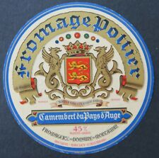 Etiquette fromage CAMEMBERT POTTIER   french cheese label 26