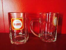 2 BOCCALI BICCHIERE BIRRA RAFFO ANNI '60 GLASS VERRE BIER BEER