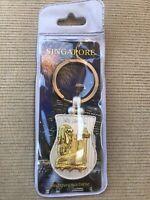 Merlion Park Singapore Mermaid Lion City Gold & Silver Tone Metal Keychain