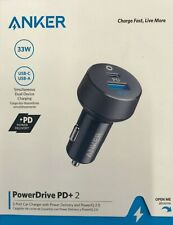 Anker PowerDrive Pd+ 2-Port 30W Power Delivery Car Charger - Black/Gray Ga