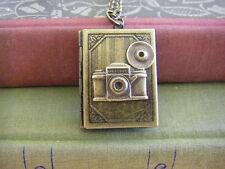 Vintage Camera Photo Album Book Locket Necklace photographer gift wedding gift