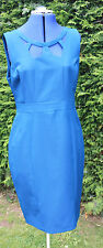 Size14 Dorothy Perkins deep turquoise lined fitted sleeveless dress hardly worn