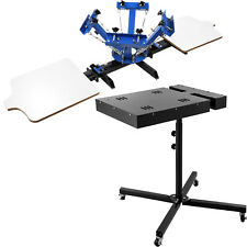 4 Color 2 Station Silk Screen Printing 18 Flash Dryer Diy Heavy Duty Pressing