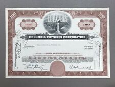 Columbia Pictures Stock Certificate *No Reserve*