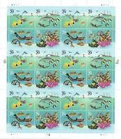 SCOTT 2863-66 29 CENT WONDERS OF THE SEA MINIATURE SHEET OF 24 MNH