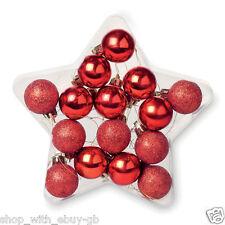 Adornos de color principal rojo estrella para árbol de Navidad