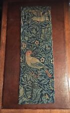 William Morris Bird Fabric Original Fragment C1880s Morris & Co