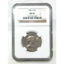 1981 D Susan B Anthony Dollar NGC MS67 *Rev Tye's* # 3023202