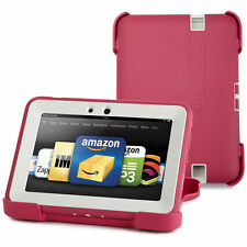 "OtterBox Kindle Fire HD 7"" 2012 Defender Case/Stand Pink White Cover"
