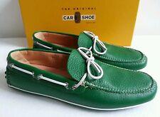 Car Shoe By Prada mocasines loafer talla 44,5 UK 10 cuero verde = verde nuevo! Italy