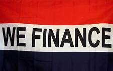 We Finance Flag 3' X 5' Deluxe Indoor Outdoor Business Banner