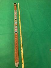 Vintage Beaded Indian Child Western Leather Belt.