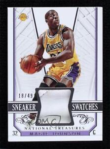 2014-15 Panini National Treasures Sneaker Swatches /49 Magic Johnson #SS-MJ HOF