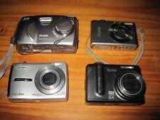 Digital Point And Shoot Camera Lot Of 4 Cameras Canon Kodak Olympus