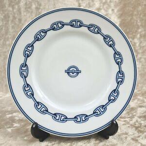 HERMES Paris Decorative Porcelain Plate Chaine D'ancre 16.5cm No Box 2(Unused)
