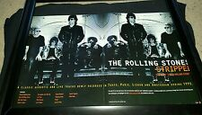 Rolling Stones Stripped Rare Original Promo Poster Ad Framed!