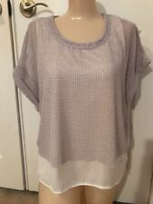 New With Tags Zara Double Layered Mesh Top Shirt Blouse Medium Adorable & Chic