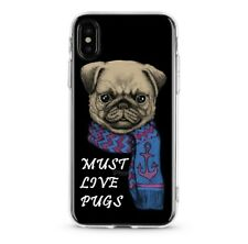 Cute Pug Dog Soft TPU Silicone Cell Phone Case for iphone 7,8, X, XR & XS