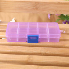 10 Grids Adjustable Jewelry Beads Pills Nail Art Tips Storage Box Case Organize
