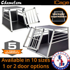 More details for aluminium pet car crate travel cage dog puppy cat transport kennel 10 sizes