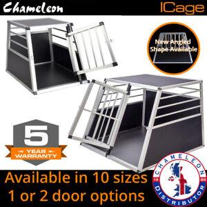 Aluminium Pet Car Crate Travel Cage Dog Puppy Cat Transport Kennel 10 sizes